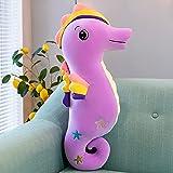 LYXBWT Caballito de mar muñeco de Peluche muñeca Regalo del día de la niña Almohada Suave muñeca de Trapo 110 cm púrpura