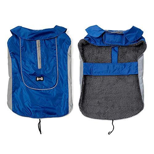LPudding Haustierhundekleidung Wintersportjacke Weste großer Hund wasserdicht warme Kleidung, blau, S