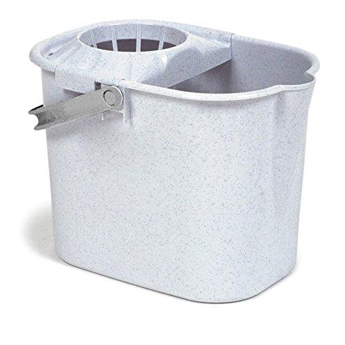 TATAY 1102804 - Cubo de Fregar Rectangular graduado con Escurridor y Asa, 12 litros de capacidad, Color Gris con chispitas, Plástico polipropileno, 37 x 26,5 x 29
