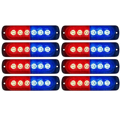 red and blue led strobe lights - 1