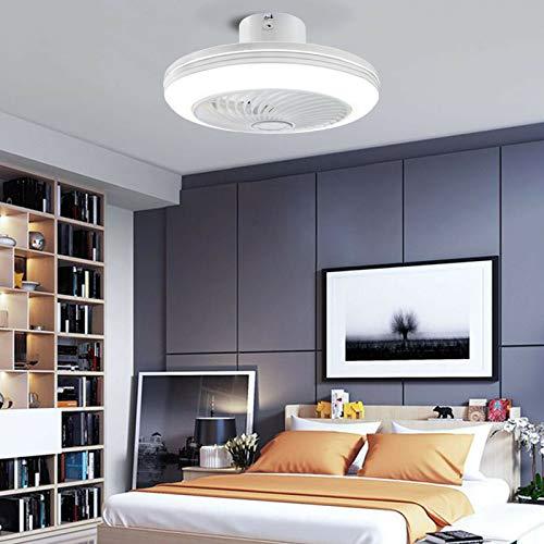 Ventilador de techo con luz creativa, foco invisible con 3 colores para salón, comedor, cocina, estudio.