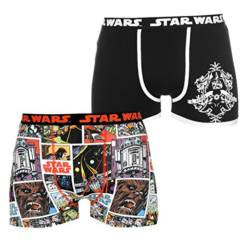 Karakter mannen Boxers 2 Pack ondergoed Flat Lock naden M Star Wars