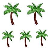 5 parches bordados de palmera de coco para planchar o coser y accesorios de ropa