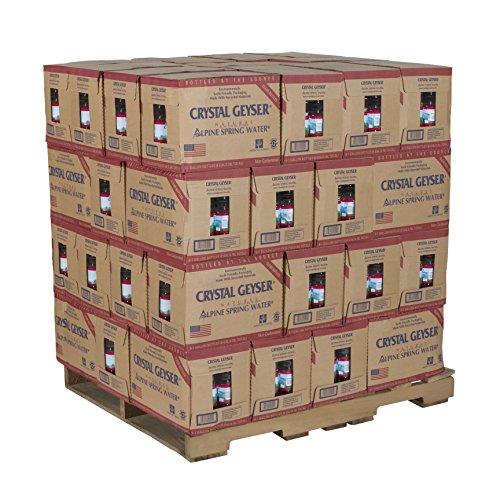 Crystal Geyser Pallet Of 48 Cases Of Alpine 100% Natural Spring Water, 1 Gallon Bottles, Bottled at The Source