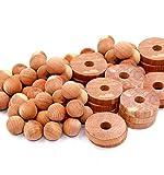 Cedar Home Cedar Blocks for Clothes Storage | Cedar Balls & Cedar Rings | Closet Freshener | Clothes Protection & Mustiness Prevention | 40 Pieces, 30 Cedar Rings & Bonus 10 Cedar Balls, U.S.A Seller
