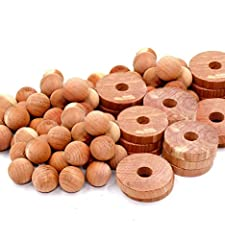 BUY 2 GET 10% OFF, BUY 3 GET 15% OFF, BUY 4 GET 20% OFF, BUY 5 GET 25% OFF. JUST ADD TO CART! MULTIPLE USES: Use these cedar balls and cedar rings in your closet, shoes, car and kitchen. Cedar blocks for clothes storage & clothes protection are not j...