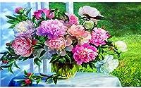 Amnogu 大人のジグソーパズル1000ピース木製パズル花柄花瓶花柄ティーンエイジャーと大人のための窓のそば非常に良い教育ゲーム