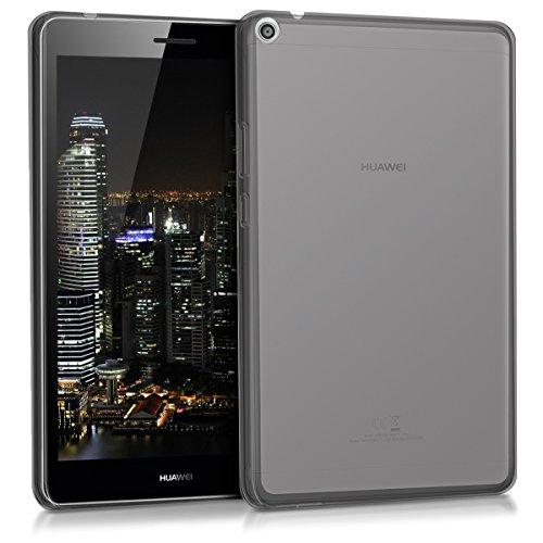 kwmobile Hülle kompatibel mit Huawei MediaPad T3 8.0 - Silikon Hülle transparent - Tablet Cover Schwarz
