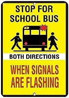 信号が両方向に点滅しているときスクールバスを停止する金属製の錫の標識産業標識安全標識道路標識