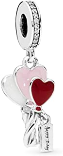 Heart Balloons 925 Sterling Silver Charm - 798076CZ