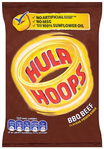 Hula Hoops BBQ Beef Flavour Potato Rings 34 g