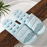 JFHZC Zapatillas para Famili,Zapatillas de baño Unisex Antideslizantes con Orificio de Drenaje, Sandalias de Secado rápido para baño, Piscina, Gimnasio-Sky_Blue_44-45