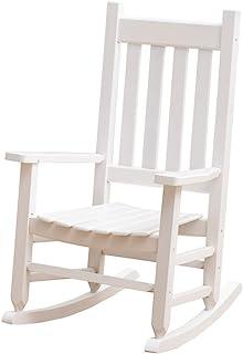 B&Z KD-23W Child`s Wooden Rocking Chair Porch Rocker - Indoor/Outdoor Ages 6-10 (White)