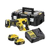 Dewalt DCS367P2-QW Saebelsaege 18 V/5 Ah, 1 W, Negro, amarillo
