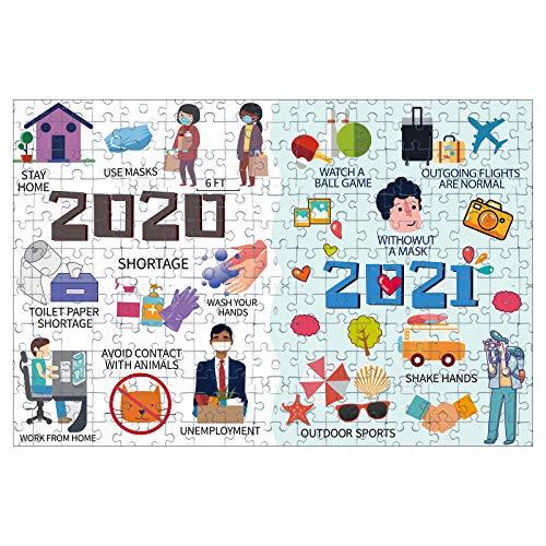 Puzzle 1000 Teile Erwachsene Kinder,Papierpuzzle,2020 Seltsame Jahr Quarantäne Vorsichtsmaßnahmen, Geschicklichkeitsspiel für die ganze Familie,Klassische Puzzles Dekompression (P)