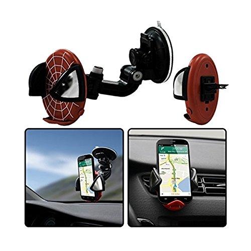 Seluxion-Soporte de coche 2 en 1 de lienzo, color rojo para rejilla de ventilación y parabrisas para Motorola Moto X
