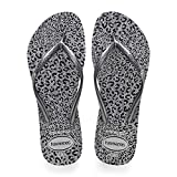 Havaianas Slim Animals, Chanclas para Mujer, Multicolor (Ice Grey/Metallic Graphite), 33/34 EU