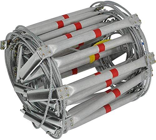DGSD Aluminiumdraht Rettungsleiter Rettungsleiter Notleiteranlagen hemmendes Mittel, 10M,8m