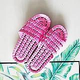 acupresión Zapatillas,Zapatillas con Fugas de baño, Zapatillas Antideslizantes Transpirables.-Rosa_36-37,Sandalias de Masaje de reflexología Pie