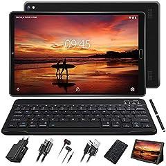 GOODTEL Tablet 10 Pulgadas Full HD Android 10.0 Procesador de Cuatro Núcleos, 3G + 32GB, Doble Cámara, WI-FI, GPS, Bluetooth Type-C Tablets