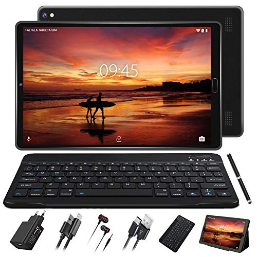 Tablet 10 Pulgadas Full HD Android 9.0 con Ranuras...