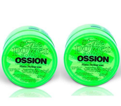 2x Morfose Ossion Matte Styling Wax 2x 100ml