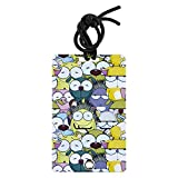 YaYtag, 2 Pack Luggage Tags with Privacy Cover, Colorful Luggage Tags, Fun Luggage Tags, Unique Luggage Tags, ID tags, Emoji Reunion