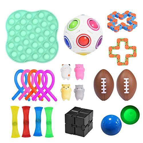 22 Stück fidget toy set, Sensory Toys Zappelspielzeug, Anti Stress Spielzeug Set für Erwachsene und Kinder