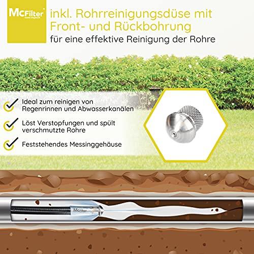 Rohrreinigungsschlauch 15m mit universellen Anschluss & geeignet für Kärcher - 4