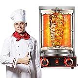 SEAAN Doner Kebab Machine Shawarma Rotisserie Machine Gyro Grill Vertical Broiler with 2 Burner...