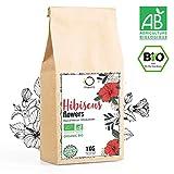 HIBISKUSTEE BIO 1kg Premiumqualität | Hibiskusblüten getrocknet für Tee, Früchtetee, Eistee, Karkade tee | Hibiskus Tee für Drainage Detox-Kur