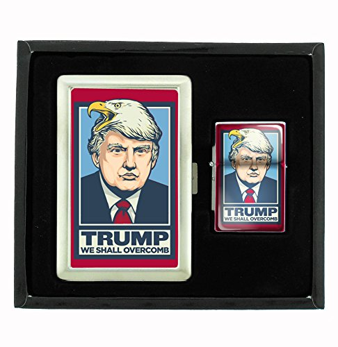 Find Bargain Customized Collectables Trump Will Overcomb Funny Cigarette Case and Flip Top Oil Light...