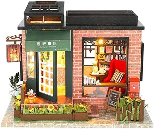 Zhangl Dollhouse Miniature Books Store DIY with Furniture Ranking TOP2 100% quality warranty Woode