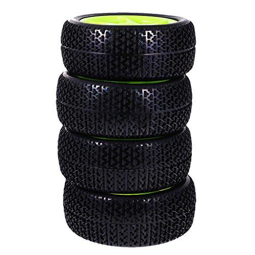 KESOTO 4 Piezas de 112 Mm de Goma de Neumáticos de Carretera Neumáticos Borde de La Rueda de 1: 8 Escala RC Coche