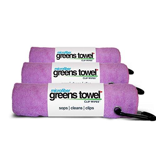 3 Pack of Pink Microfiber Golf Towels
