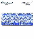 Waterman - 2 X 8 Washable Blue Serenity Ink Cartridges In Carton Box