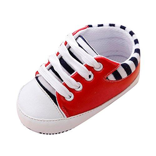 Styledress Baby Jungen Mädchen Lauflernschuhe Kleinkinder Weiche Sohle Schnüren Sneakers