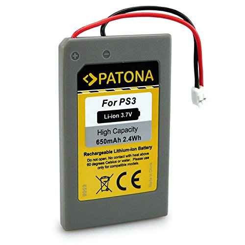 PATONA Bateria reemplaza LIP1359, LIP1859, LIP1472 Compatible con Sony PS3 Playstation 3 Mando Control Remote