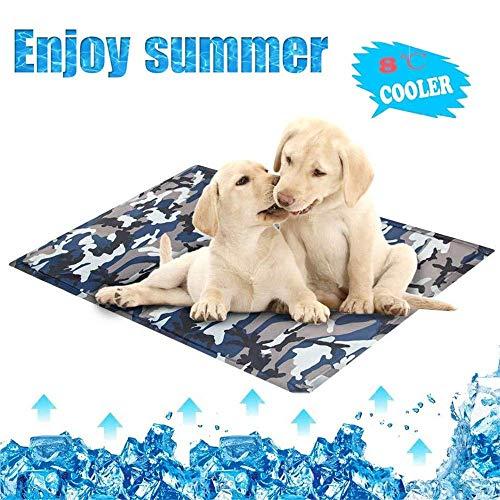 unknow Haustier Matratze Kühlmatte Kühlgel Hund Isomatte Sommer Cool Cold Pet Haustier Kühlmatten für den Innenbereich Gelenkschmerzen reduzieren, XL