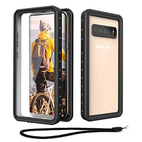 Beeasy Hülle für Samsung Galaxy S10 5G,IP68 Zertifiziert Wasserdicht 360 Grad Schutzhülle,Stoßfest Outdoor Handy Hülle mit Bildschirmschutz Robust Schutz vor Stürzen Stößen Handyhülle,Schwarz