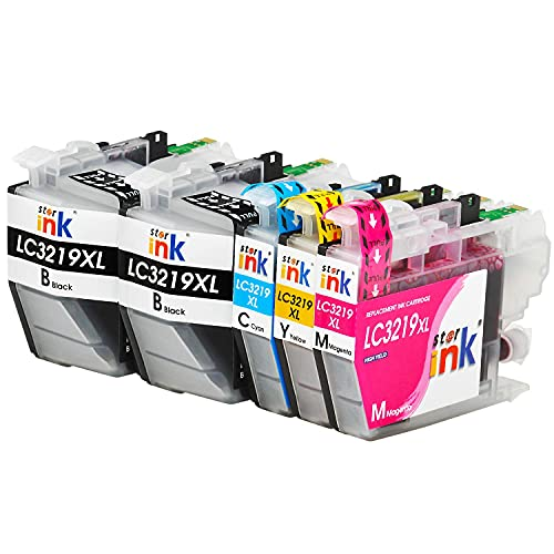 Starink 5 Pack Kompatibel für Brother LC-3219XL LC3219XL LC 3217L Tintenpatronen für Brother MFC J5330DW J5335DW J5730DW J5930DW J6530DW J6930DW J6935DW Patronen Drucker