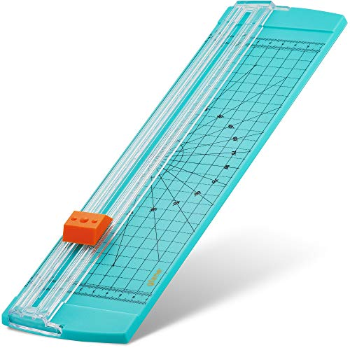 Glone 12 inch Paper Trimmer, A4 Size Paper Cutter with Automatic Security Safeguard for Coupon, Craft Paper and Photos (Green)