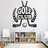 zhuziji Avión Personalizado Pegatinas de Pared Golf Sport Extraíble S Golf Puerta Vidrio Vinilo Extraíble Mural Impermeable Familia Niño. Sala de Estar autoadhesiva.74x68cm