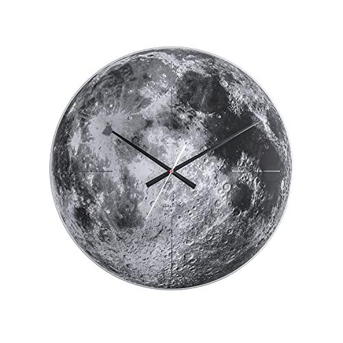 Karlsson KA5475 Horloge Murale Moon, Glass Mirror, Gris, Verre, 4 x 60 x 60 cm
