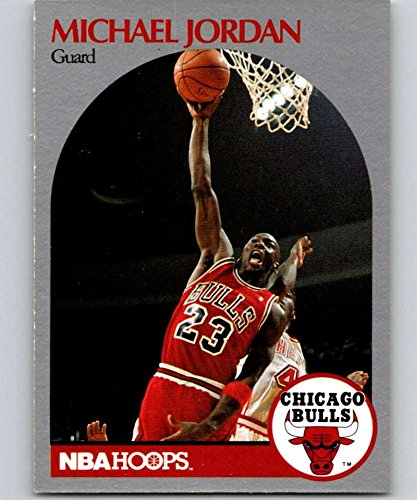 1990-91 NBA Hoops #65 Michael Jordan Chicago Bulls Official Basketball Trading Card