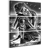 murando - Cuadro en Lienzo Buda 60x90 cm Impresión de 3 Piezas Material Tejido no...
