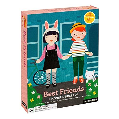 Petit Collage 54348 Magnetspiel Anziehfiguren Mädchen