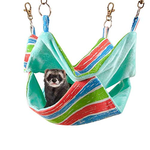 JKGHK Ferret Hammock Cotton Sleeping Nest for Small Animals, Pet Cage Swinging Bed And Nap Sack