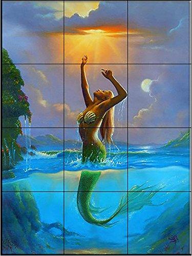 Ceramic Tile Mural - per raggiungere il sole - JW- di Jim Warren - Cucina splashback / doccia Bagno
