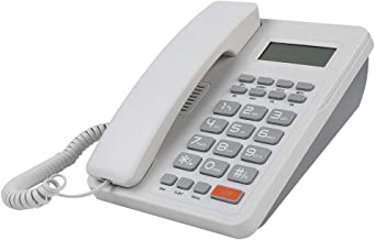 Corded Telephone, Home Hotel Wired Corded Desktop Phone Caller ID Office Landline Fixed Telephones with English Display DT... photo